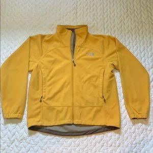 Medium Mustard Yellow Zip-Up North Face Sweatshirt